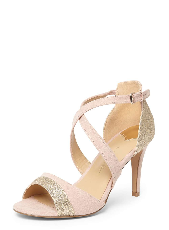 b528b074235 Womens Wide Fit Blush  Sasha  Sandals- Gold