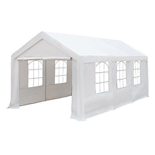 Carports Abba Patio 10 X 20feet Heavy Duty Domain Carport Car Canopy Shelter With Windows And Sidewalls Whit Canopy Outdoor Car Canopy Party Canopy