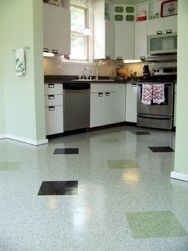 Old School Vct Pattern Kitchen Flooring Modern Kitchen