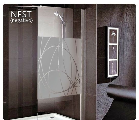 Vinilo decorativo mampara de ba o vinilos decorativos vinyl wall bathroom shower doors y - Vinilos decorativos para duchas ...