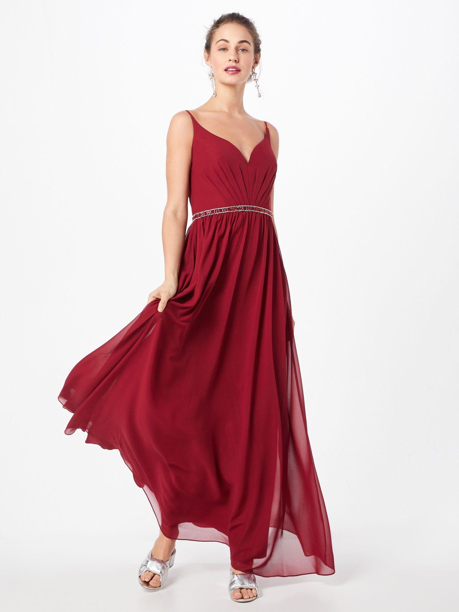 Mascara Kleid Damen, Bordeaux, Größe 18  Langes abendkleid