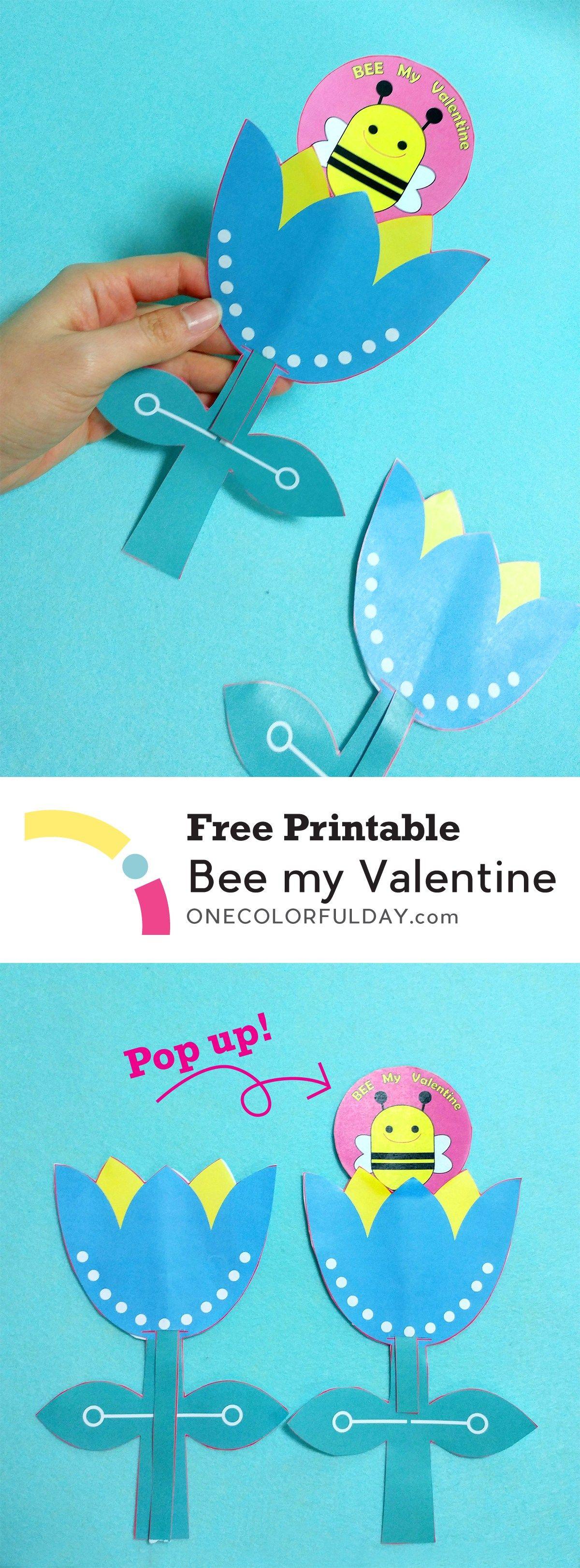 Free Printable Bee My Valentine Craft