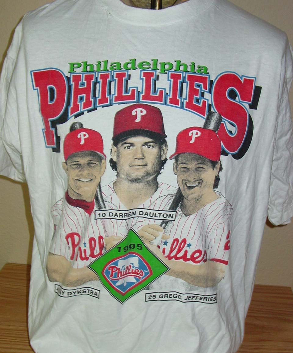 pretty nice 9fae8 b771b Vintage 1995 Philadelphia Phillies baseball t shirt Darren ...