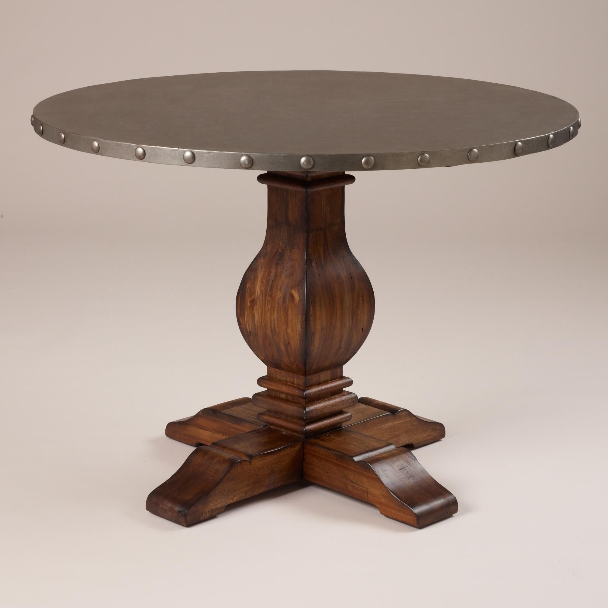Metal And Wood Kitchen Table Cooper Round Dining Table Traditional Metals And Wood And Metal