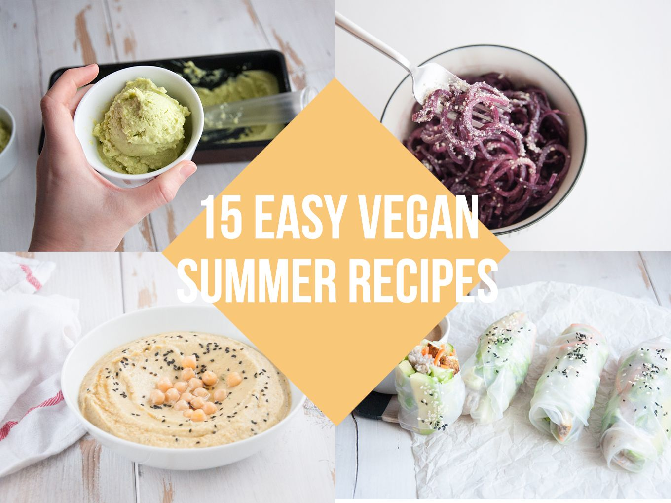 You're looking for ways to beat the heat? Try these 15 Easy Vegan Summer Recipes. Plant-based, dairy-free and delicious!! Drinks, Desserts, Snacks and more.