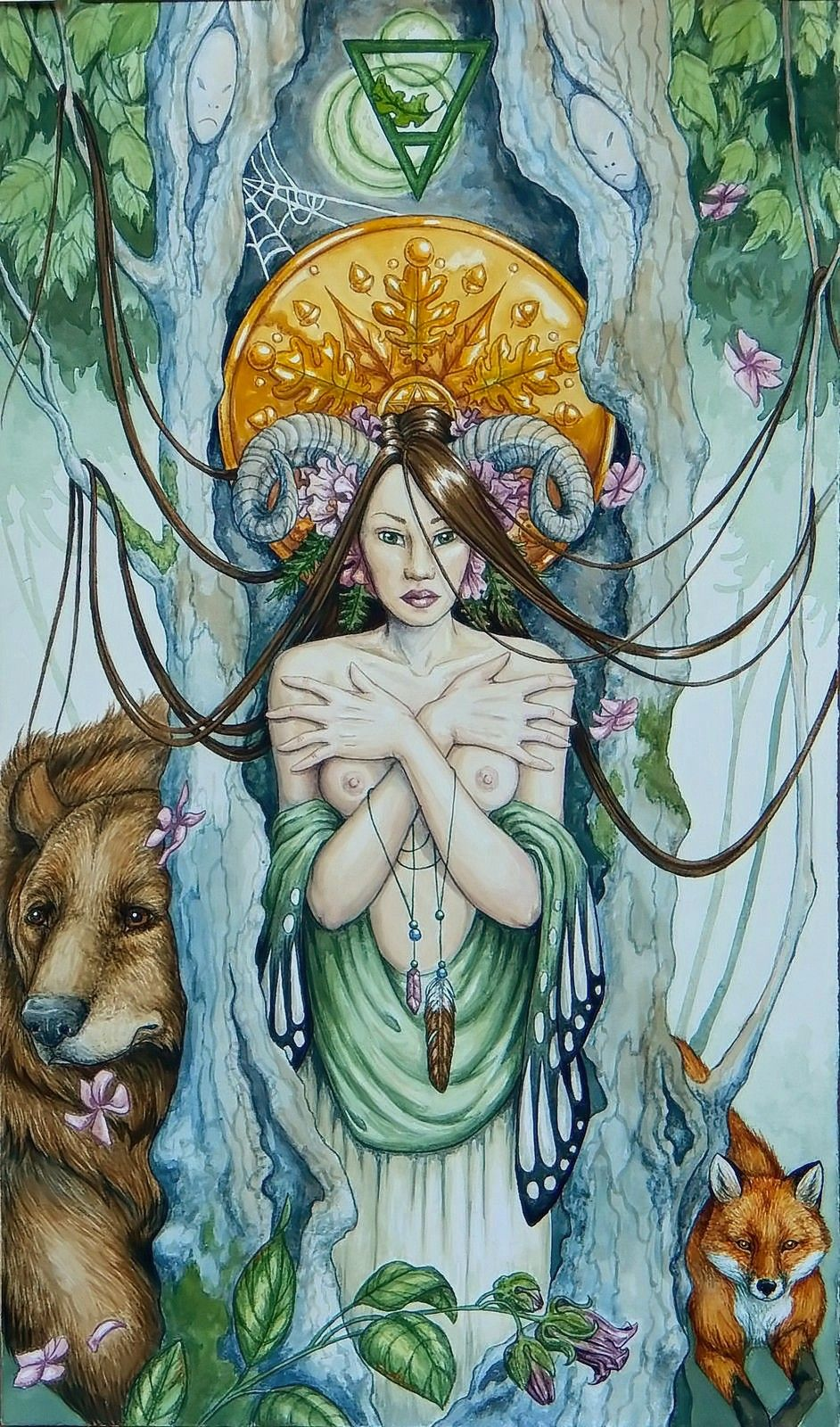 Queen of Pentacles Tarot-Martinique Louise Fisher