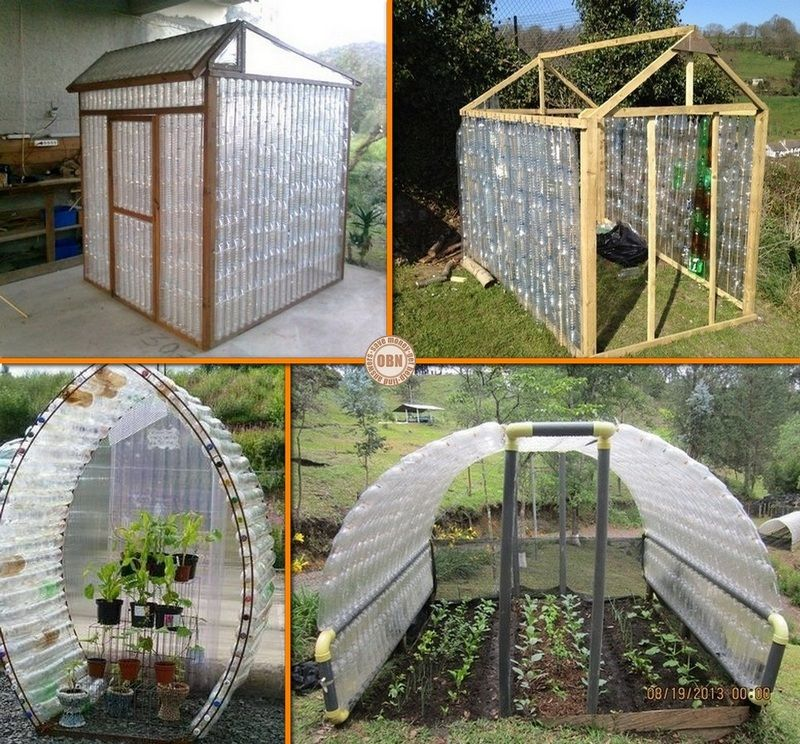Diy plastic bottle greenhouse flores pinterest diy for House made by waste material