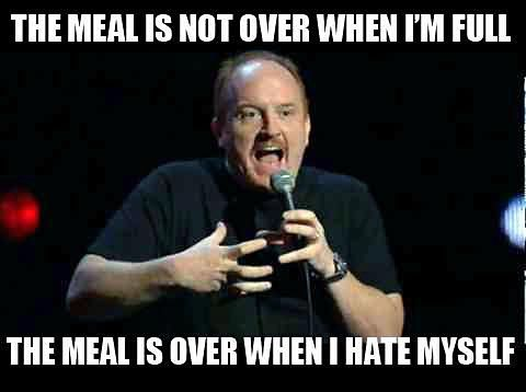 Image result for the meal isn't over until i hate myself
