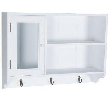 BUTLERS STEWARD Wandschrank mit Glastür und 3 Haken, 50 the big - küchenschrank mit glastüren
