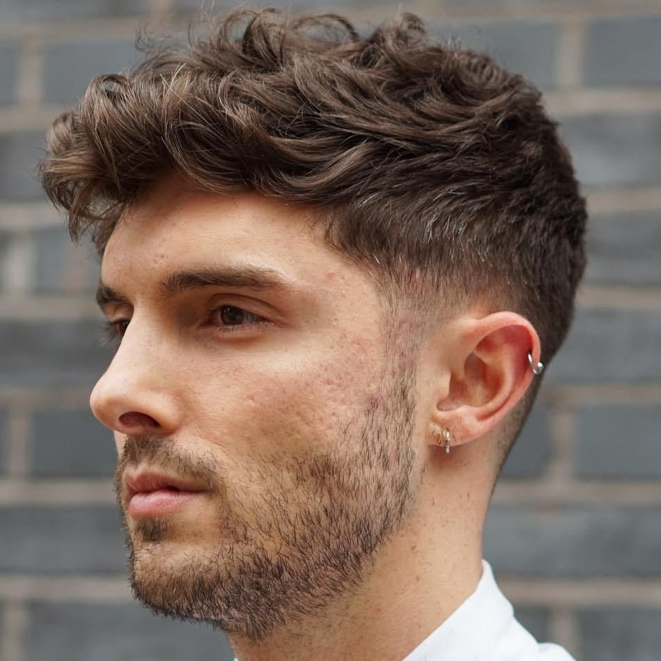 Wavy Taper For Thick Hair Mens Hairstyles Thick Hair Wavy Hair Men Thick Curly Hair