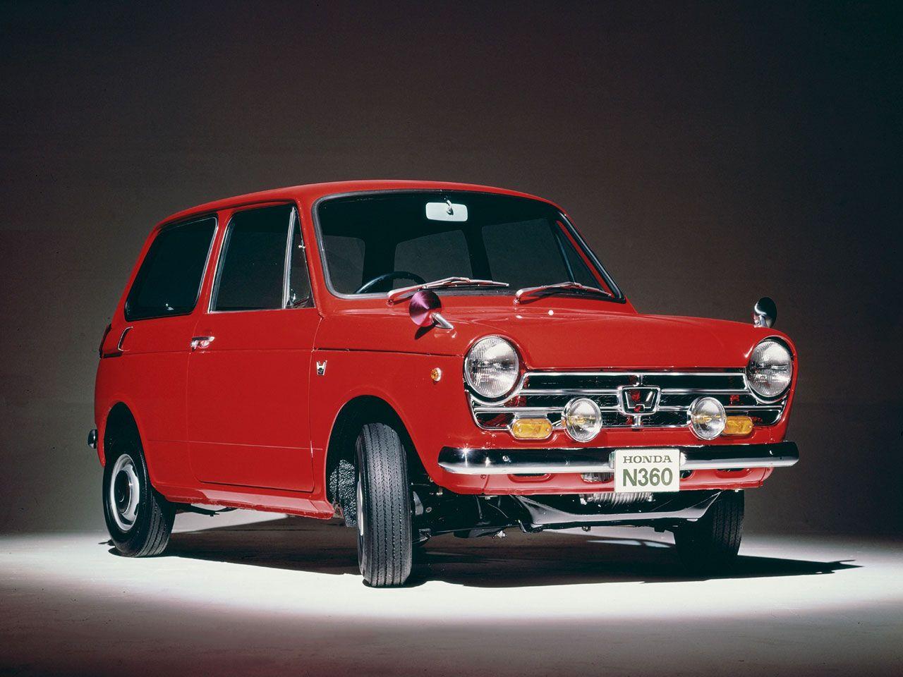 The Honda N360 (1969). I love the Honda Logo on it. Only