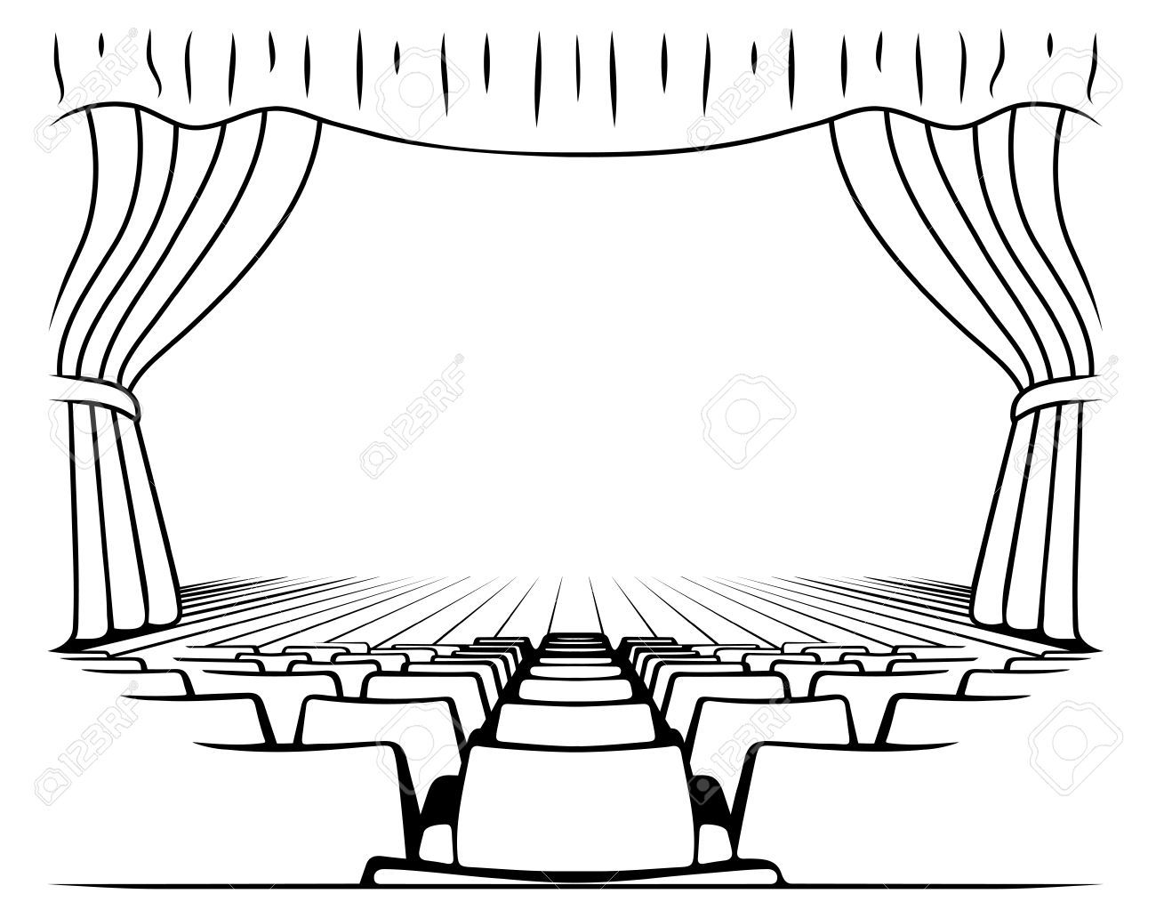 Theater Stage Vector Sketch Stock Vector Affiliate Vector Stage Theater Vector Ad Theatre Drawing Vector Sketch Theatre Stage