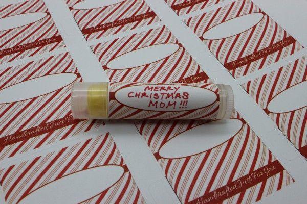 diy lip balm label candy cane lip balm labels pkging. Black Bedroom Furniture Sets. Home Design Ideas