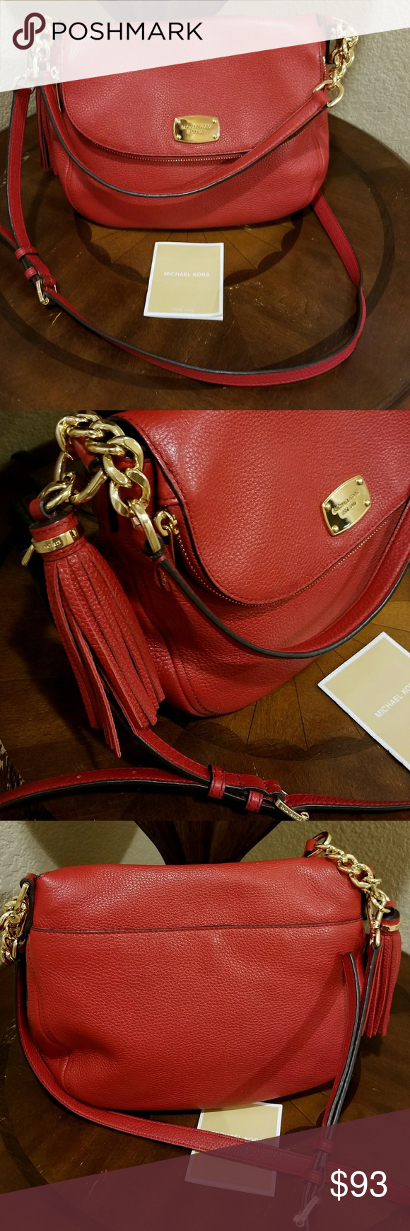 3201a609411954 Michael Kors Bedford tassel crossbody shoulder bag Authentic, very gently  used Michael Kors leather handbag