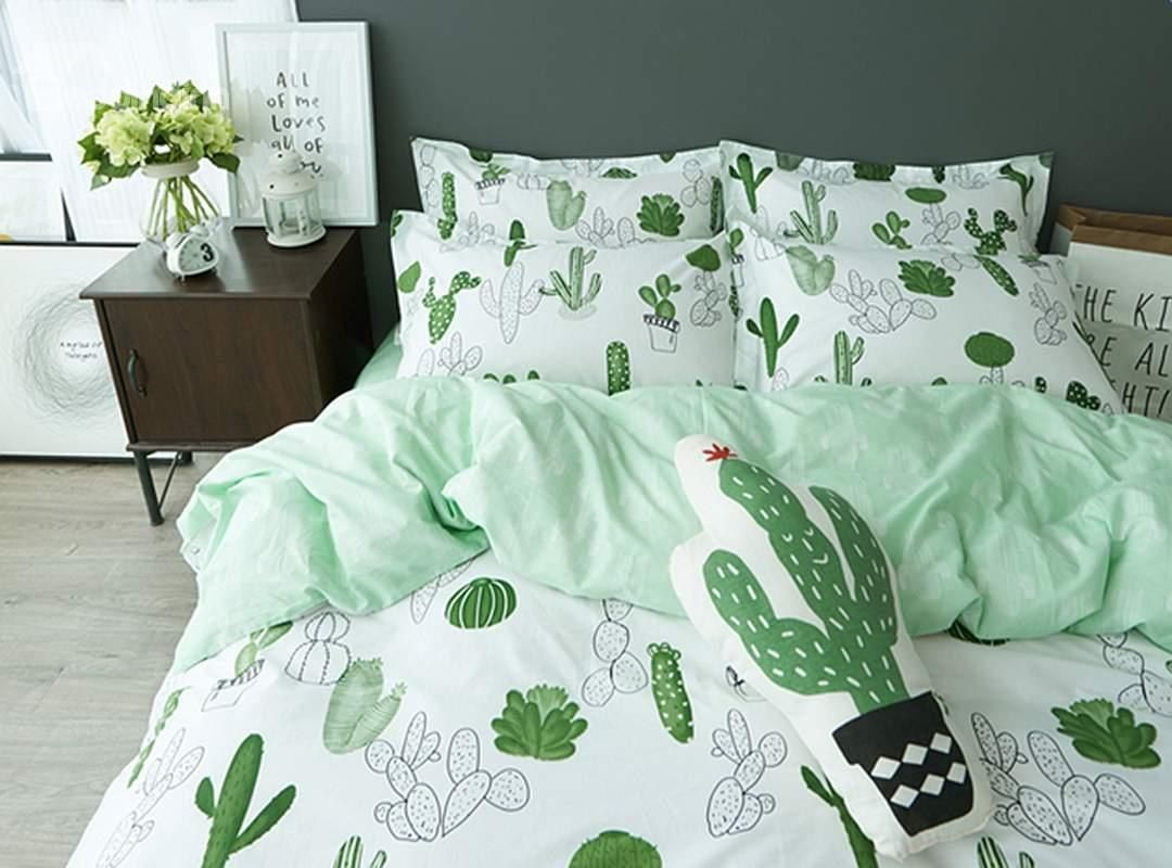 Sala Set Cover Where To Buy Cartoon Cactus 4 Pieces 100 Cotton Duvet Cover Sets