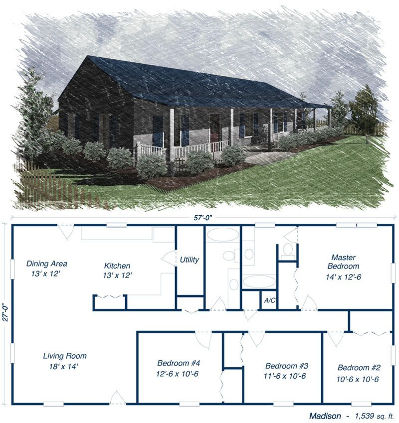 Steel home kit prices low pricing on metal houses for Barn house blueprints