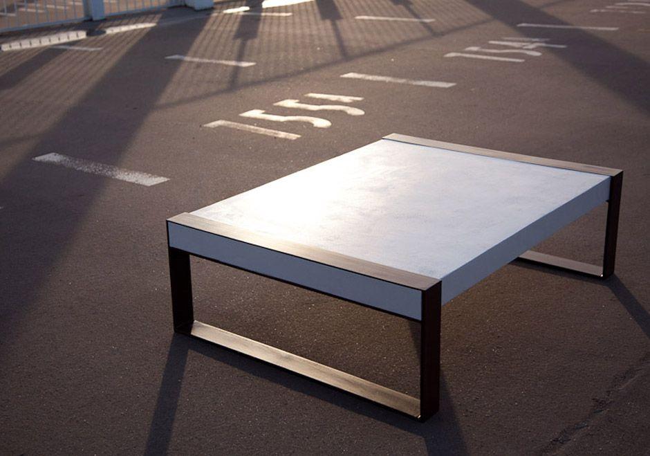 table basse -- fer et béton | soudure | pinterest