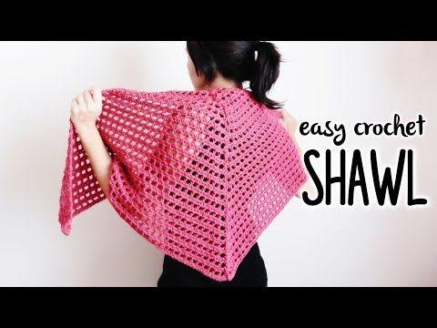 How to crochet EASY TRIANGLE SHAWL ♥ CROCHET LOVERS - YouTube ...