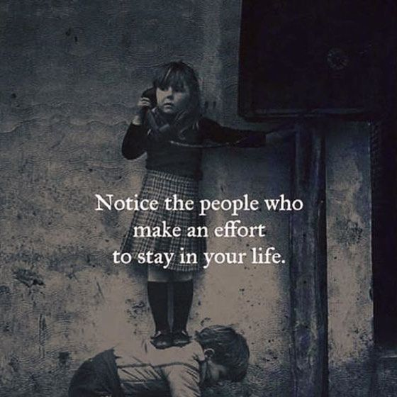 Sometimes we dont know what lengths people go through to try to be a part of our lives. If someone makes an effort to keep reaching out its because they care and not after anything. Not everyone has pure motives but there are a few people who still do.