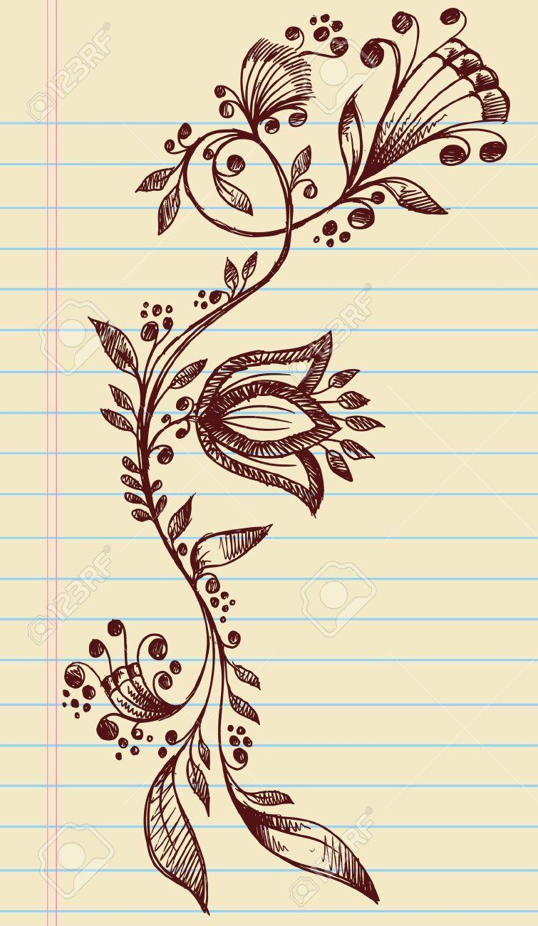 12852100sketchydoodlehennaelegantflowersandvines