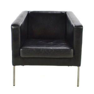 Ikea Klsta Arm Chair Black Leather Qt 2 City Of Montréal Greater Image