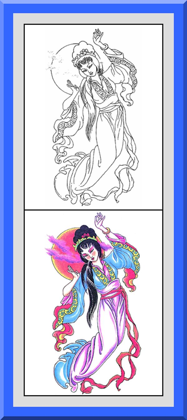Coloring book outlines - Geisha Coloring Book 24 Printable Coloring Pages Outlines Color Examples Instant Download Japanese Geisha Coloring Pages