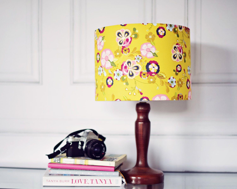 Items Similar To Yellow Lamp Shade Yellow Bedroom Decor Light Shades Floral Lamp Shade Living Room Decor Drum Lamp Shade Floor Lamp Yellow Living Room On Yellow Lamp Shades Yellow Lamp