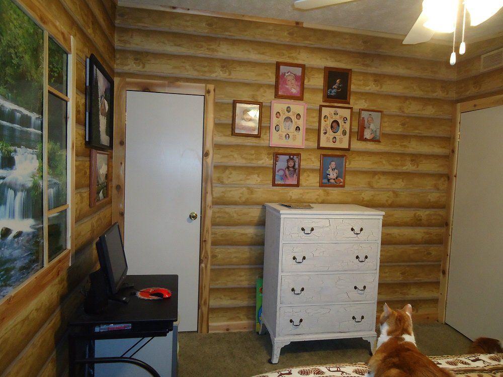 Seabrook Dd688 Log Wallpaper 27 X 324 60 75 Sq Ft Double Roll Log Cabin Wallpaper Amazon Com Rustic Walls Log Wallpaper Rustic House