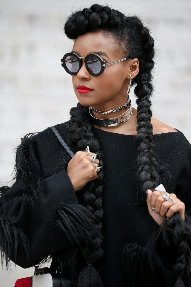 janelle monae hair style janelle monae hairstyle with box braids hair 3163