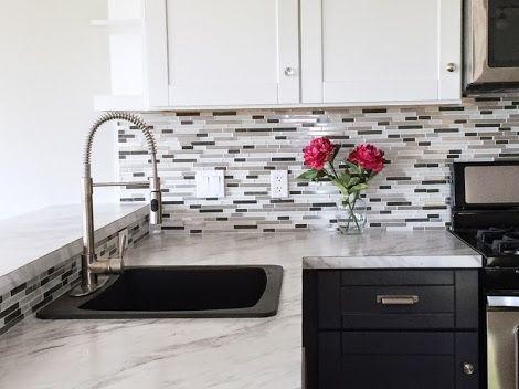Mosaic Glass Tile Backsplash Ana White DIY Projects tile