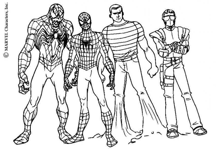 Download And Print Venom Sandman Green Goblin Spiderman Coloring Page Spiderman Coloring Coloring Pages Green Goblin Spiderman