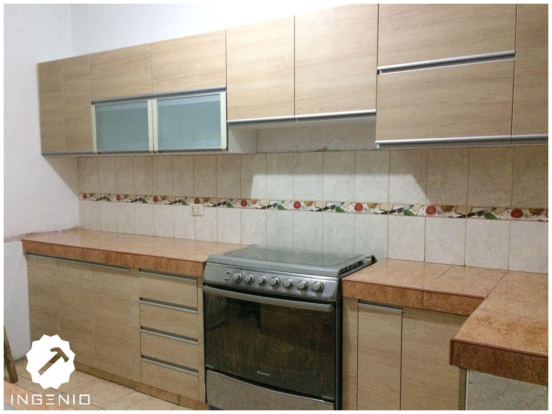 Mueble Cocina En Melamina Carvalo Mueble Cocina De Melamina  # Muebles Naranjo Ingenio