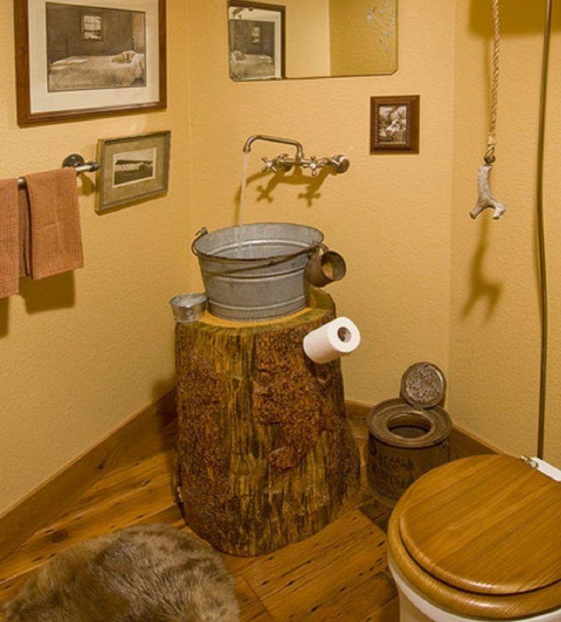 Rustic Bathroom Vanity Reclaimed Wood Diy Vessel Sink Plus Faucet Single Round Bowl Sinks Tile Flooring Wall Mount