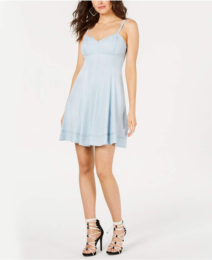 GUESS Adjustable Chambray Dress In 2019