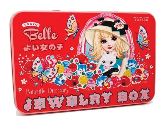 WU WU Tokyo Belle Collection Tin Contents Jewelry Box Kit