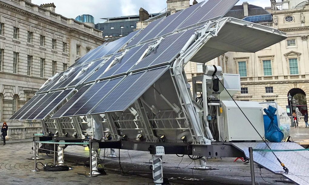 The World S First Mobile Solar Powered Recycling Plant Just Popped Up In The Middle Of London Solar Panels Best Solar Panels Solar Technology