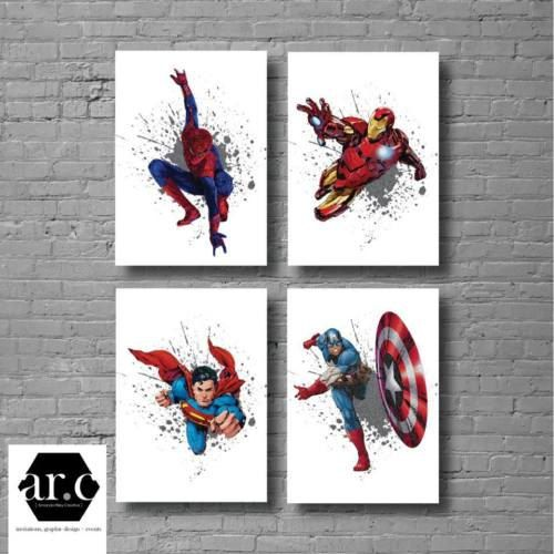 Personalised Captain America Print Bedroom Wall Art Marvel A4