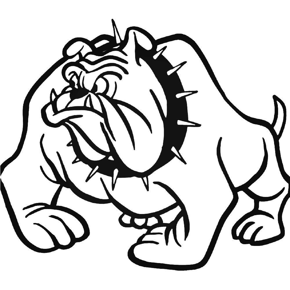 Bulldog 254 Sticker Szkice Naklejki Psy