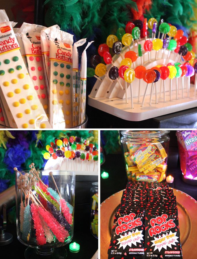 80 Ideas For Contemporary Living Room Designs: 80's Themed Candy Bar! {Real Party