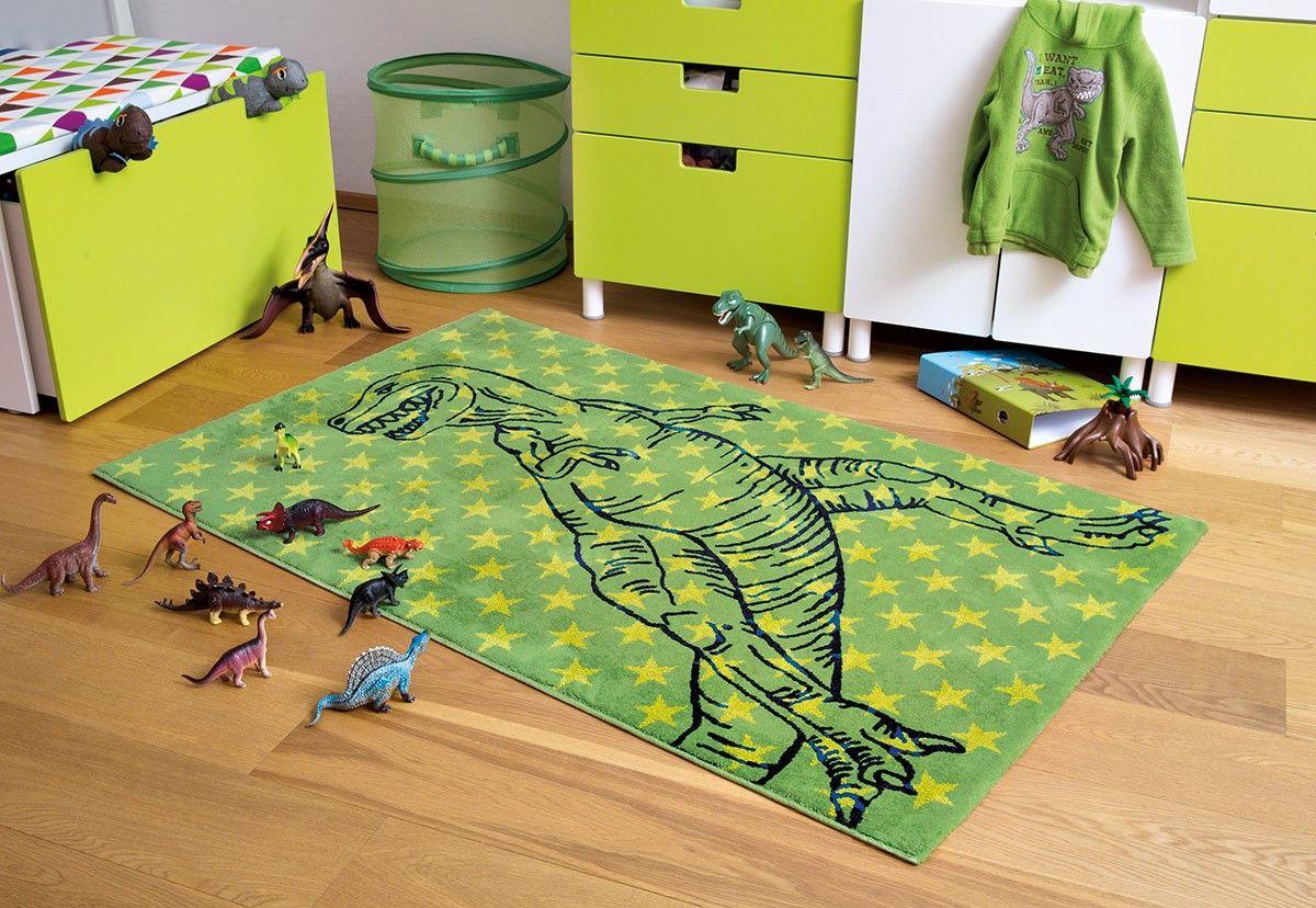 Met dit superstoere groene dinosaurus speelkleed maak je jouw ...