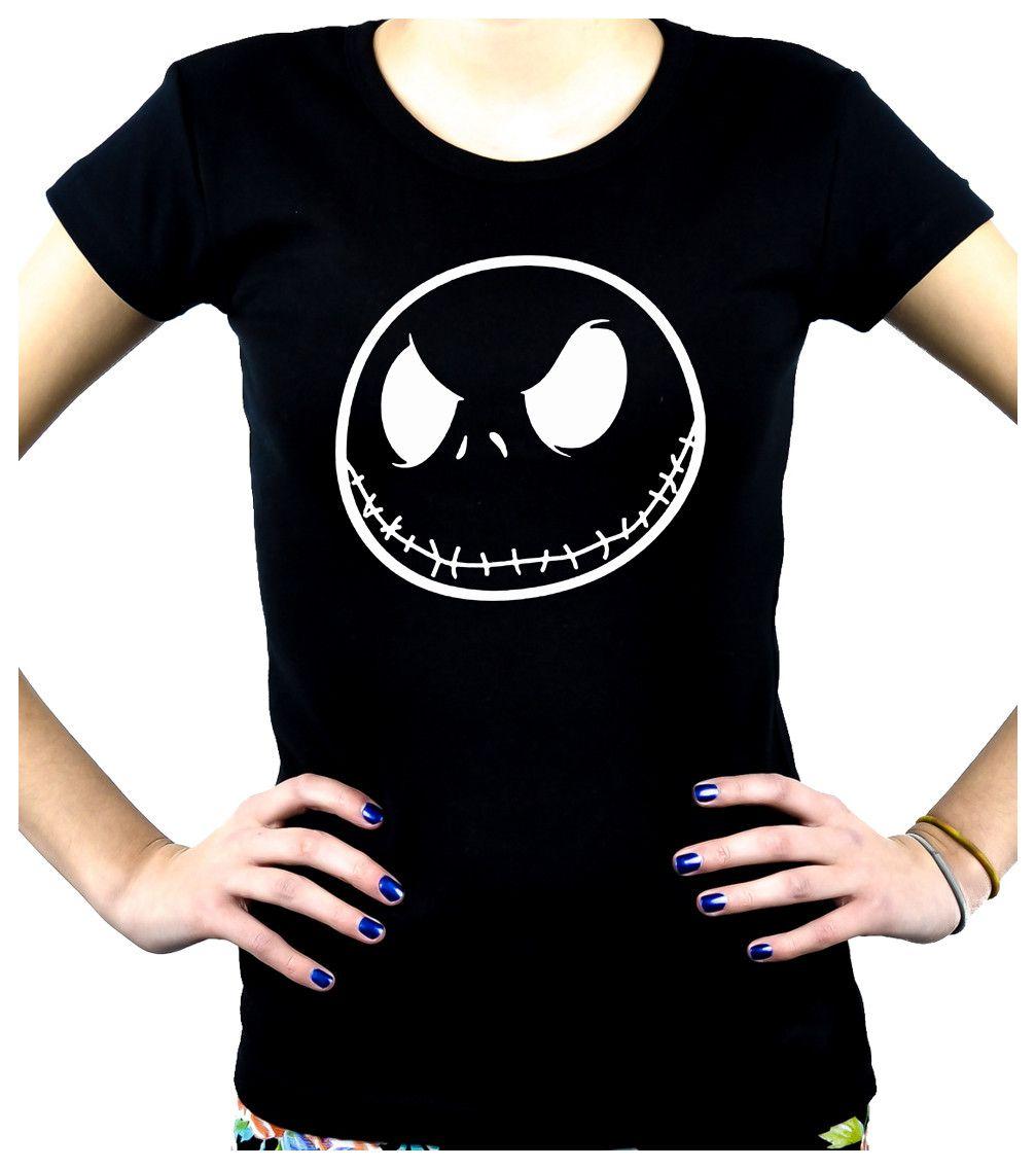 Negative Jack Skellington Face Women's Babydoll Shirt Top Nightmare Before  Christmas