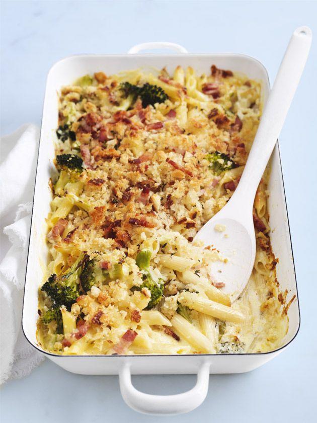 Broccoli And Pancetta Pasta Bake Pancetta Pasta Baked Pasta Recipes Baked Dinner