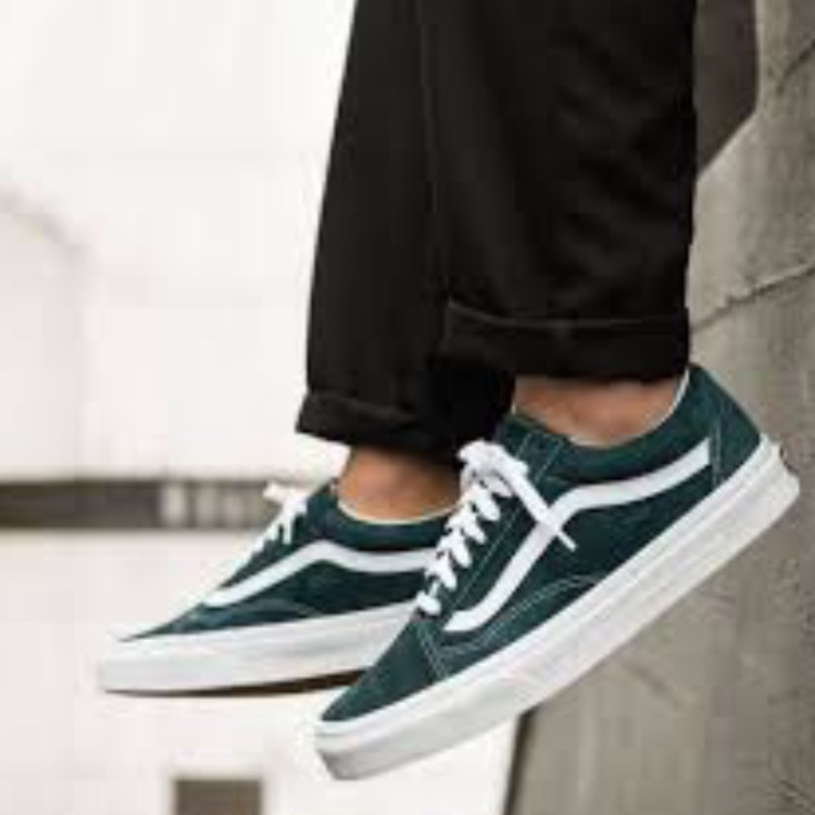 Vans Shoes | Nwt Vans Old Skool Pig Suede Spruce W 8, M 6.5