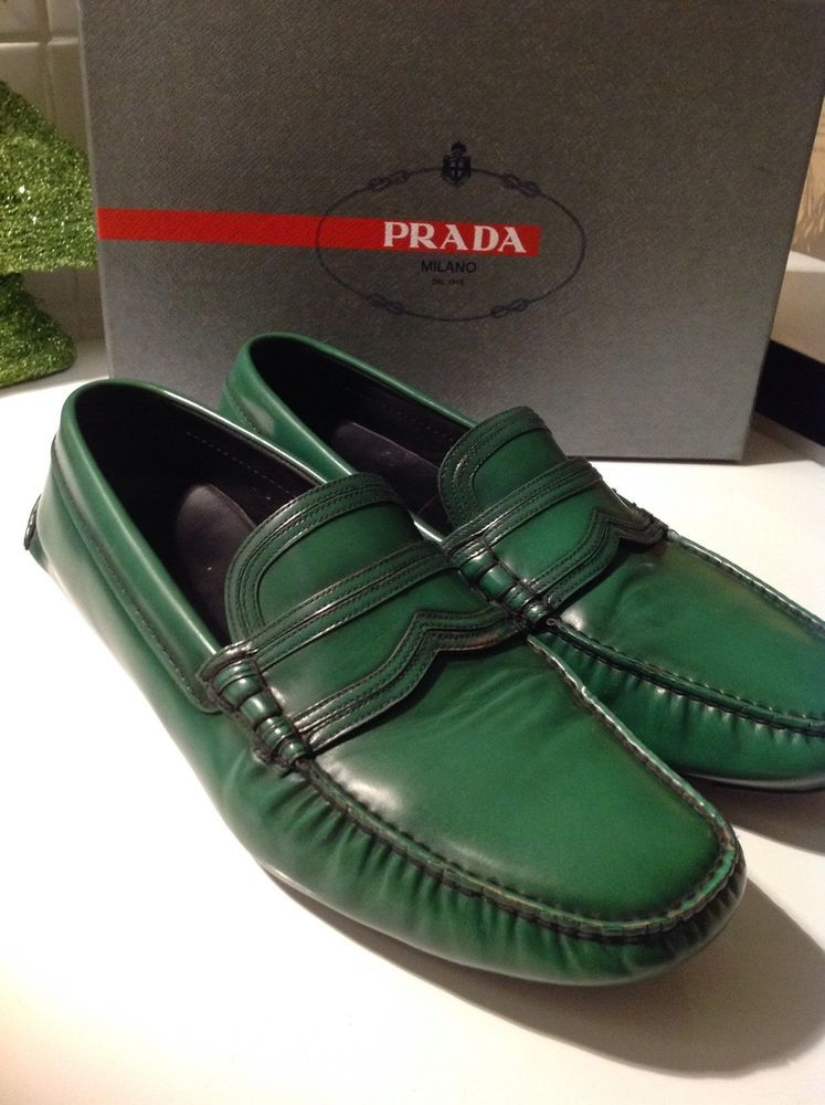32f4fa7f9ae60 Details zu PRADA Herren Leder Schuhe Größe 10