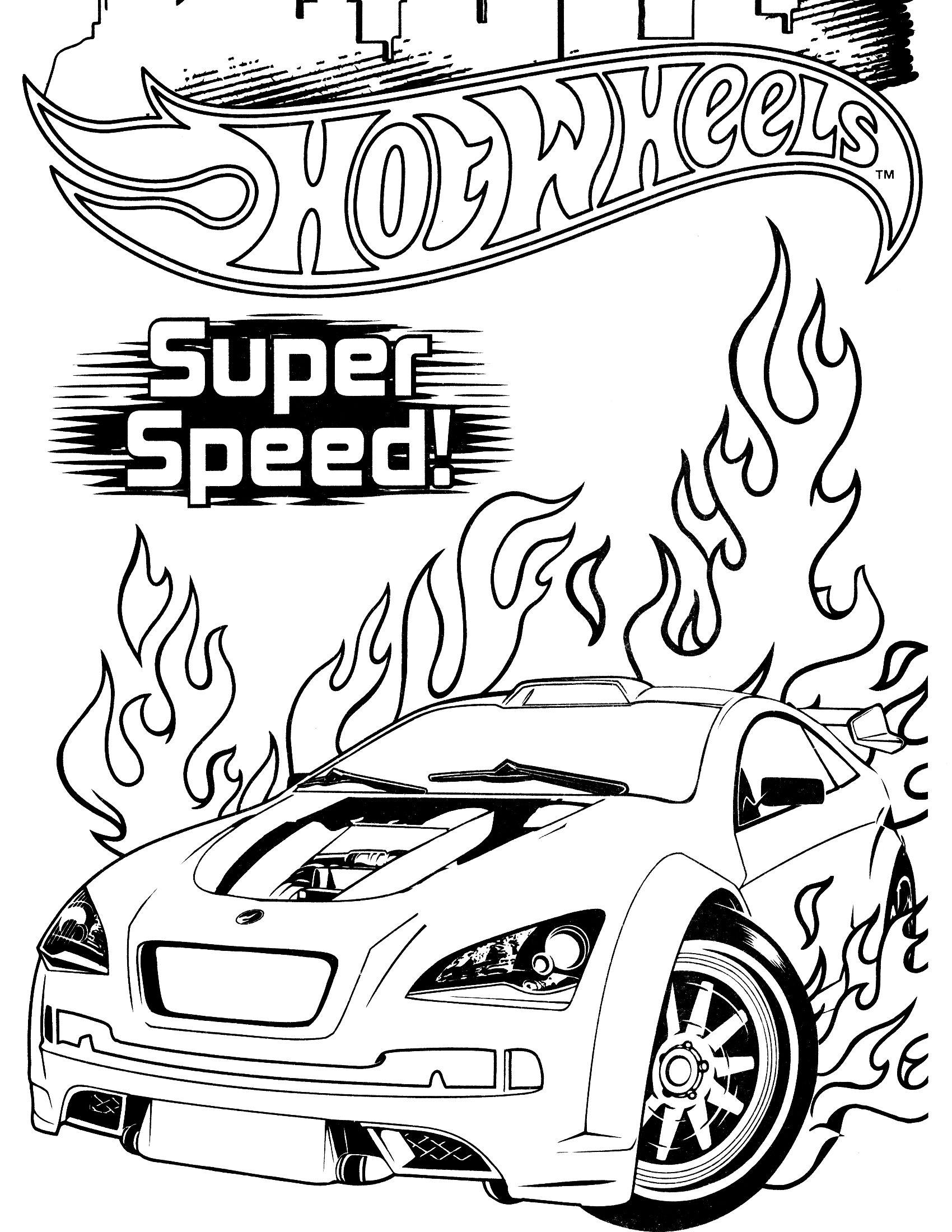 Coloring in the car - Hot Wheels Coloring Page