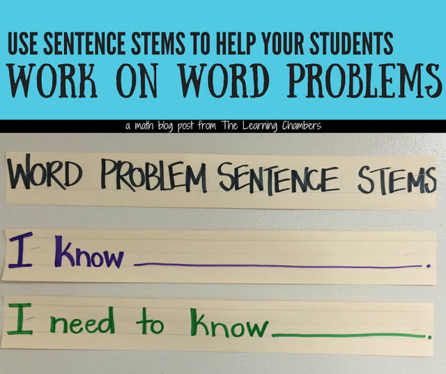 Two simple sentence stems that will help your students when they are ...