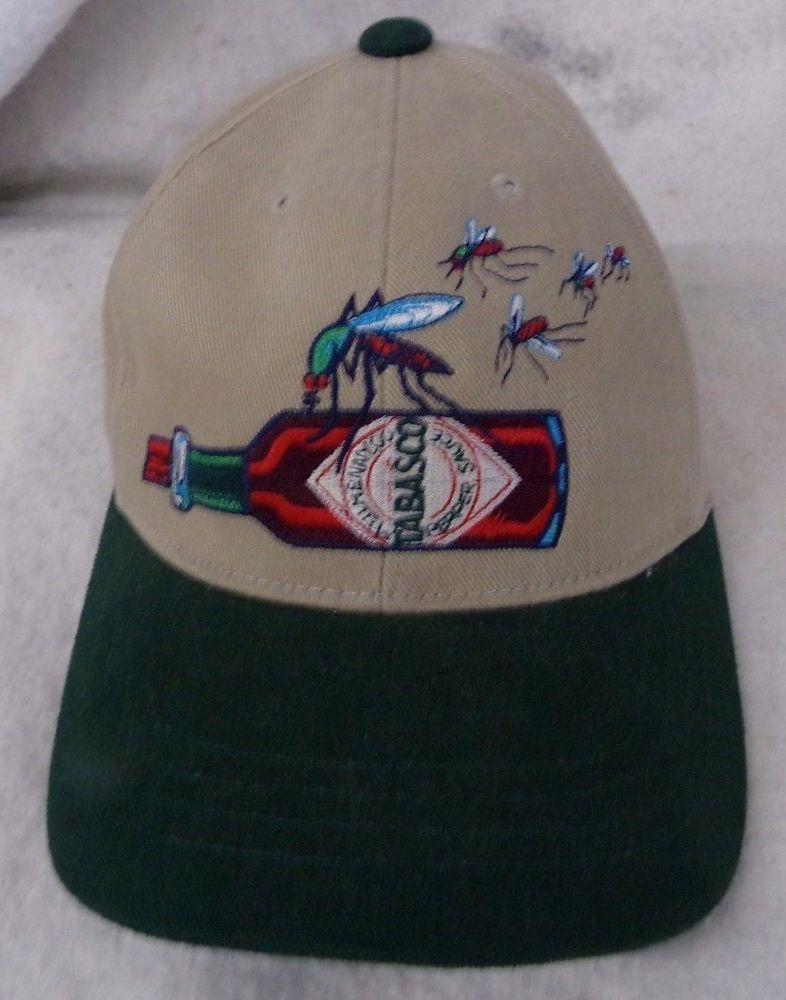 ebdb4ab4 TABASCO Bite Me MOSQUITO Embroidered BEIGE Baseball Cap #SportsWear  #BaseballCap #Tabasco #eBay