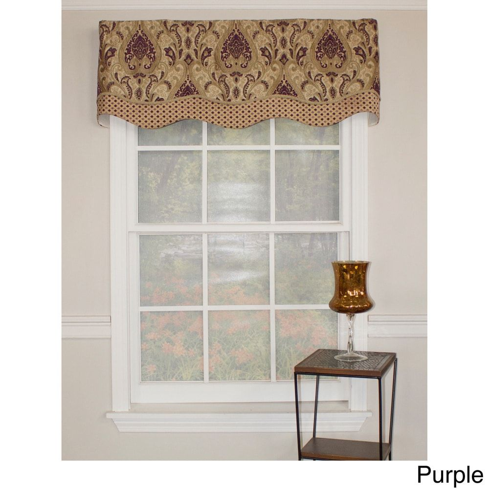 RFL Home Paisley Dream Glory Cotton Valance   Free Shipping Today    Overstock.com   18380431