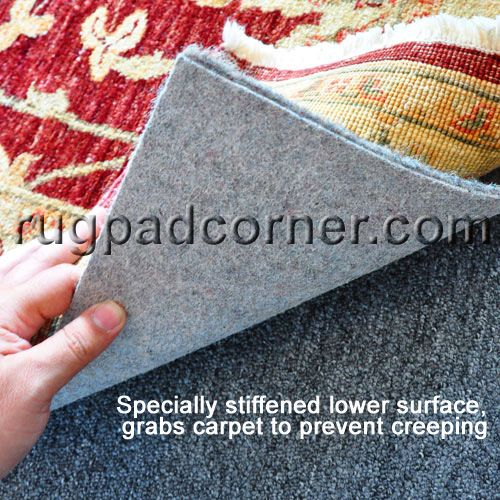 8 X10 No Muv Rug On Carpet To Pad