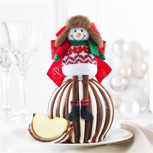 Triple Chocolate All Bundled Up Jumbo Caramel Apple Gift | Christmas ...